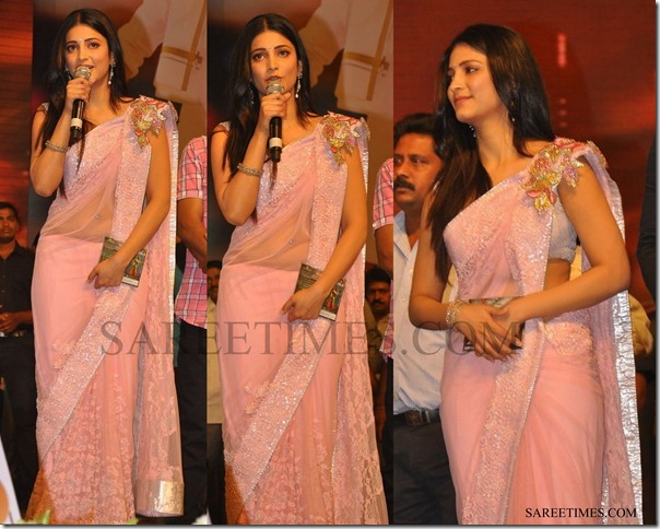 Sruthi_Haasan_Pink_Saree