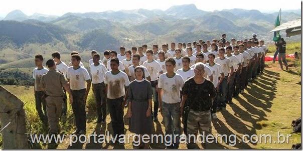 Guarda Mirim participaram do Treme Terra 2014 em Mantena