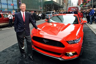 The All-New Ford Mustang is revealed in Times Square