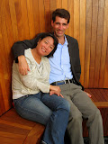 Mike and Maria in the Skyspace room at the Henry Art Museum