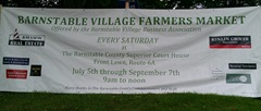 Barnstable Village Farmers Market sign.8.2013
