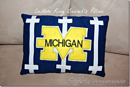 Custom Ring Bearer's Pillow 1