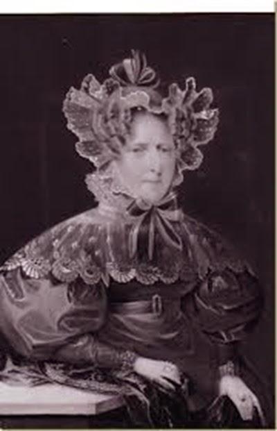 La Duquesa-Viuda Luisa-Augusta de Augustenborg, retratada en su madurez, en 1835.