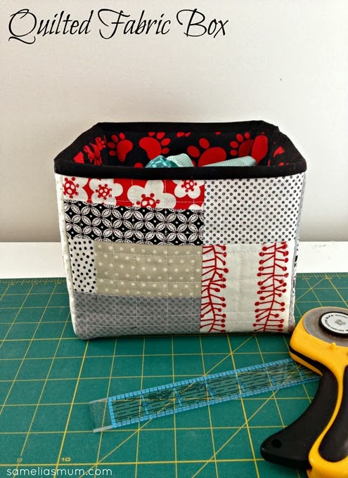 Quilted Fabric Box