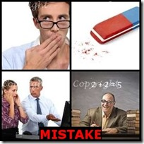MISTAKE- 4 Pics 1 Word Answers 3 Letters
