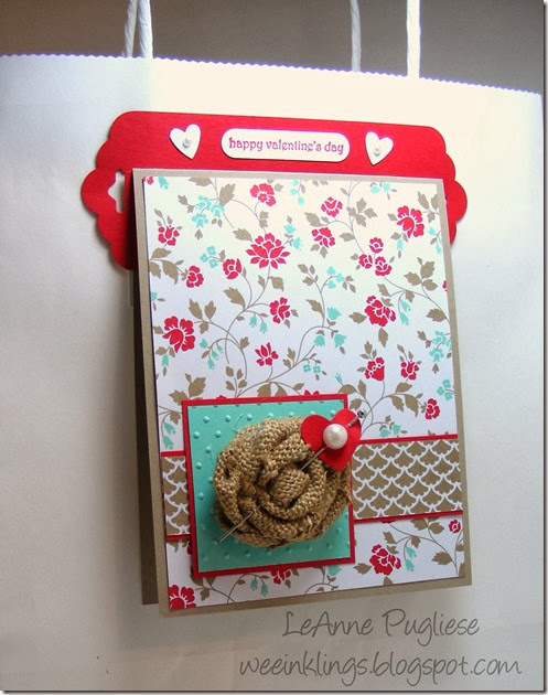 WeeInklings LeAnne Pugliese Tag Topper Punch Bag Hanger Stampin Up
