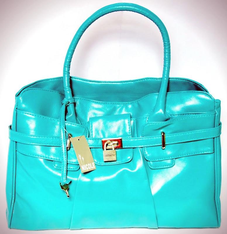Turquoise Padlock Handbag
