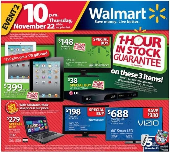 Walmart Black Friday 2012 Ad and Deals