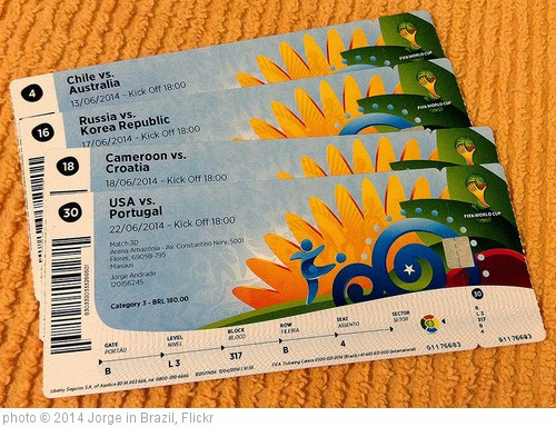 'My FIFA World Cup tickets' photo (c) 2014, Jorge in Brazil - license: https://creativecommons.org/licenses/by/2.0/