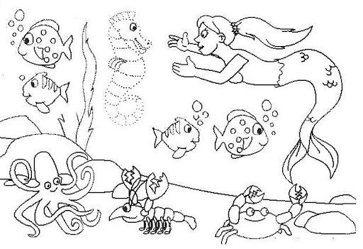 Dibujos de acuarios marinos para colorear - Imagui