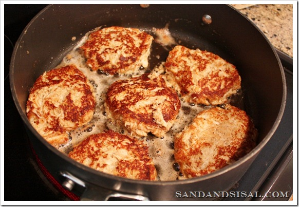 fry crab cakes in butter