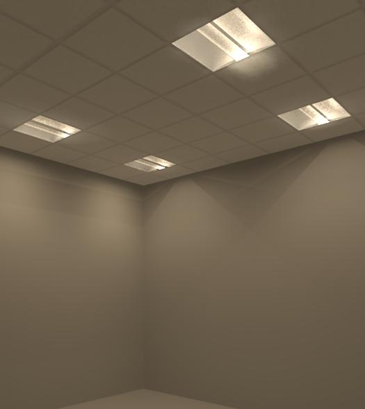 Lamp in fixture  IES