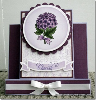 purple step card