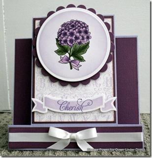 purple step card