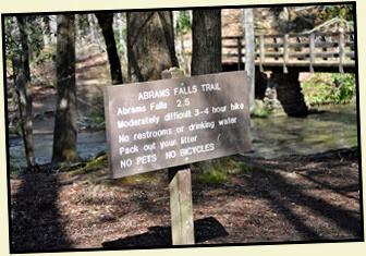 01 - Abrahms Falls Sign