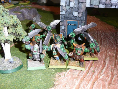 Orcs leap from gatehouse