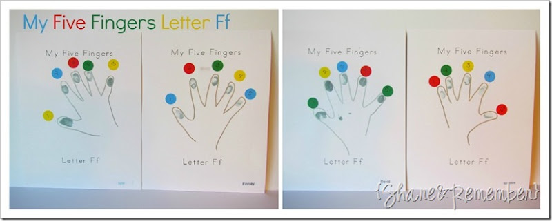 Letter Ff My Five Fingers Printable