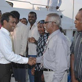 President Nasheed's visit to some islands of Noonu