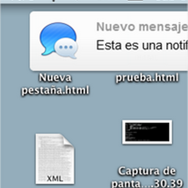 Cómo crear una notificación al estilo Mountain Lion con CSS3