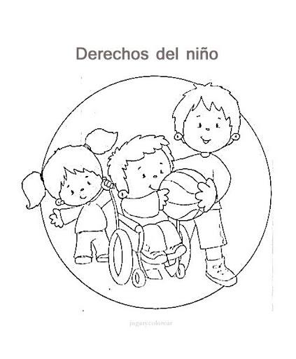 Dibujos de los derechos del niño para pintar - Manualidades Infantiles