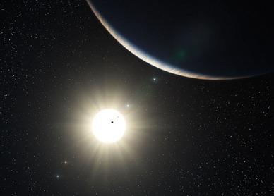 ilustração do sistema planetário HD 10180