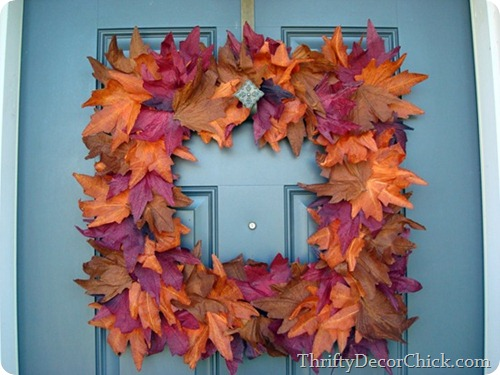 dollar store fall wreath