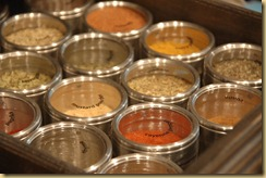 Spice jar storage