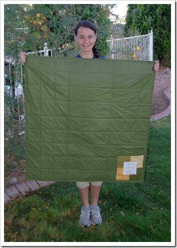 Sierra school quilt back