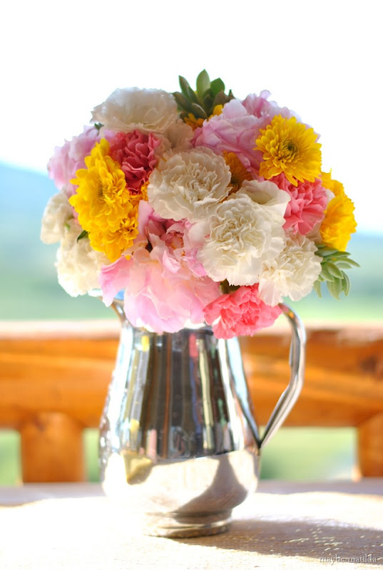 A colorful country glam wedding reception.