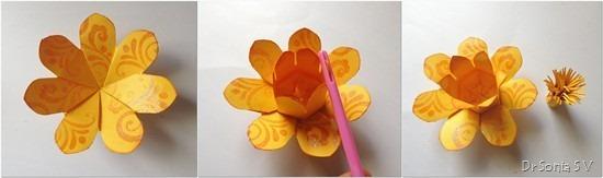 Paper Flower tutorial 9