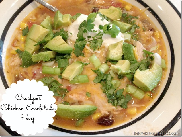 chicken enchilada soup 1