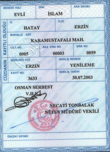 не знакома перевод на турецкий