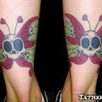 s skulls butterfly - tattoos ideas