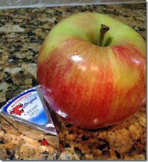 Laughing Cow Cheese and Apple