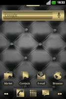 Screenshot of Gold and Leather ADW Theme