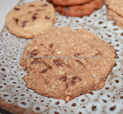 Almond milk solid remains - added to cookie