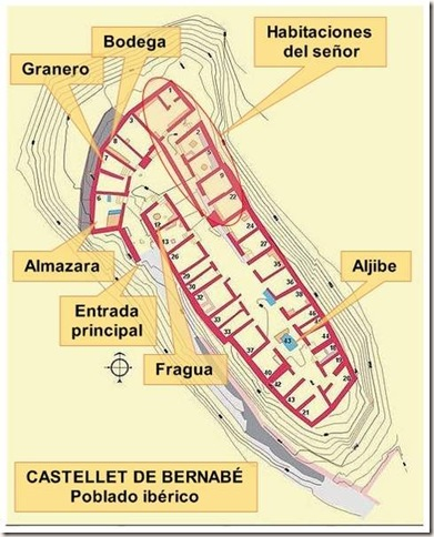 Plano del Castellet de Bernabé