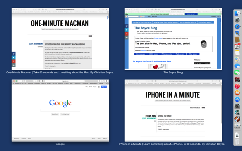 Show All Windows in Safari Mac OS Dock