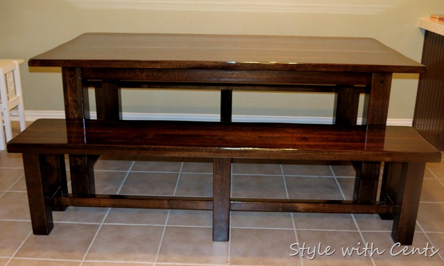 Style with Cents}: Refinishing a Kitchen Table