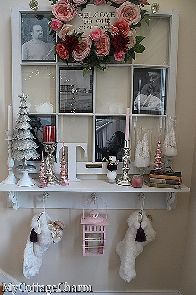 how to decorate a foyer for Christmas