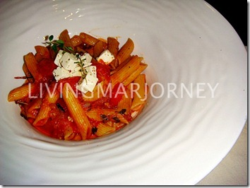 Cherry Tomato and Eggplant Ragu Penne