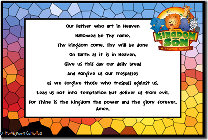 Our Father Prayer Card 4x6