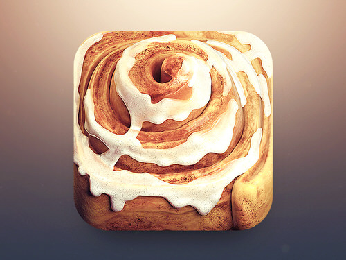 Cinnamon roll ios app icon delicious