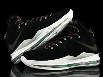 nike lebron 10 sportswear black mint nubuck 6 01 Nike Sportswears LeBron X EXT Black / Mint (607078 001)