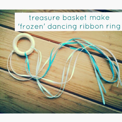 frozen dancing ribbon ring craft idea