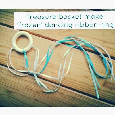 frozen dancing ribbon ring craft idea