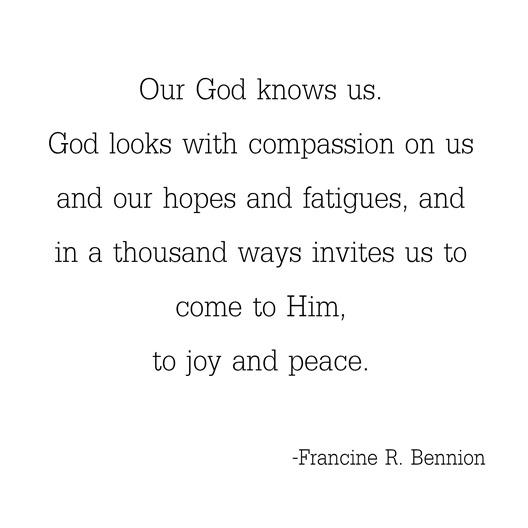 God knows us -- Bennion