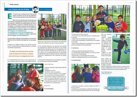 """""""Beneficios del pádel en los más pequeños"""" publicado en la Revista Green News, autor Rafa Guerrero Planeta Pádel Web"""