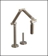 Kohler Articulatin deck-mount faucet-bronze