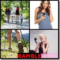 RAMBLE- 4 Pics 1 Word Answers 3 Letters